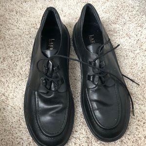 Ralph Lauren Black Leather Loafers